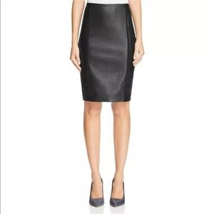 Bailey 44 pencil skirt with faux leather panel